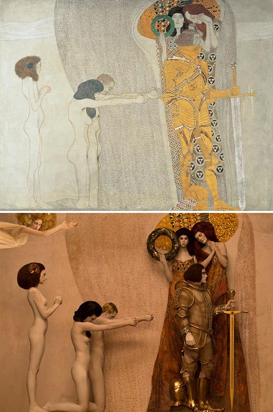 Gustav Klimt - Beethoven Frieze