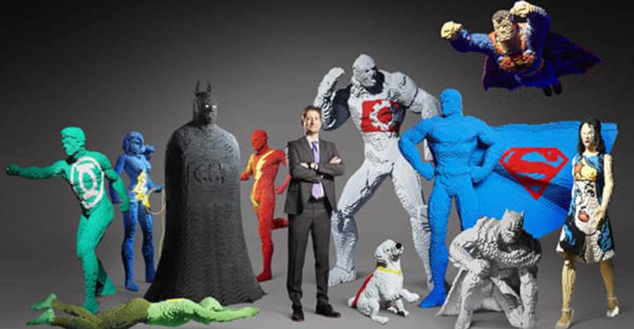 Nathan Sawaya - As maiores estátuas de Lego de super hérois