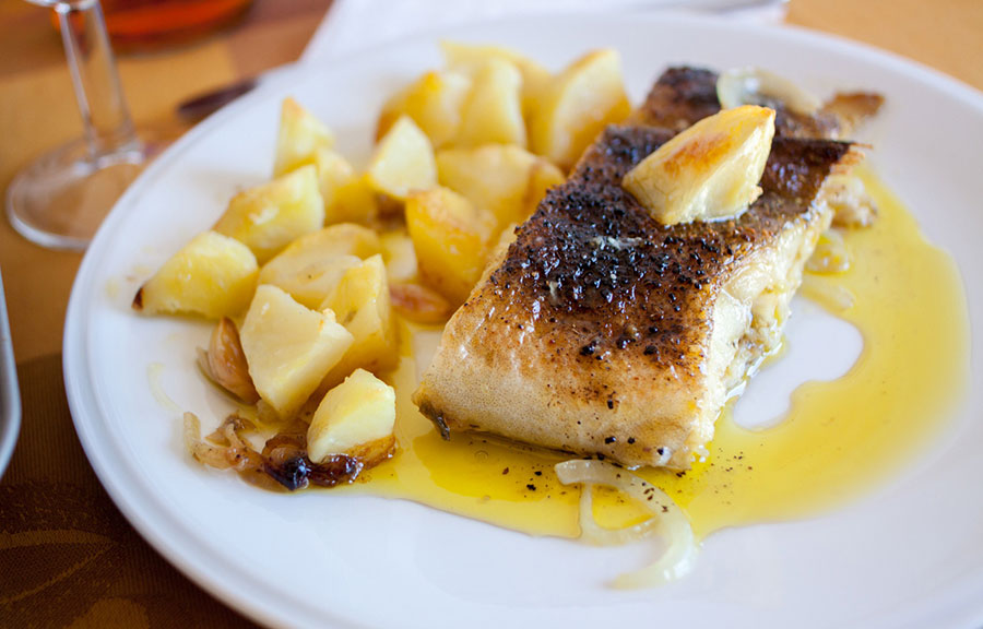 Bacalhau assado no forno