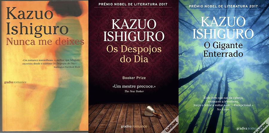 PRÉMIO NOBEL 2017 KAZUO ISHIGURO - livros