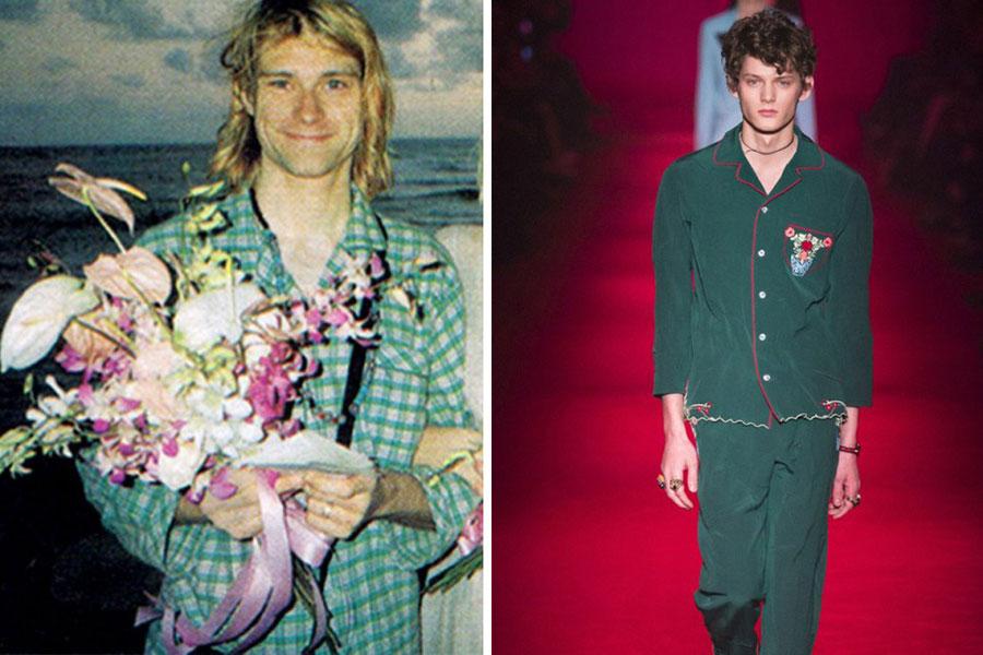 Kurt Cobain de Pijama