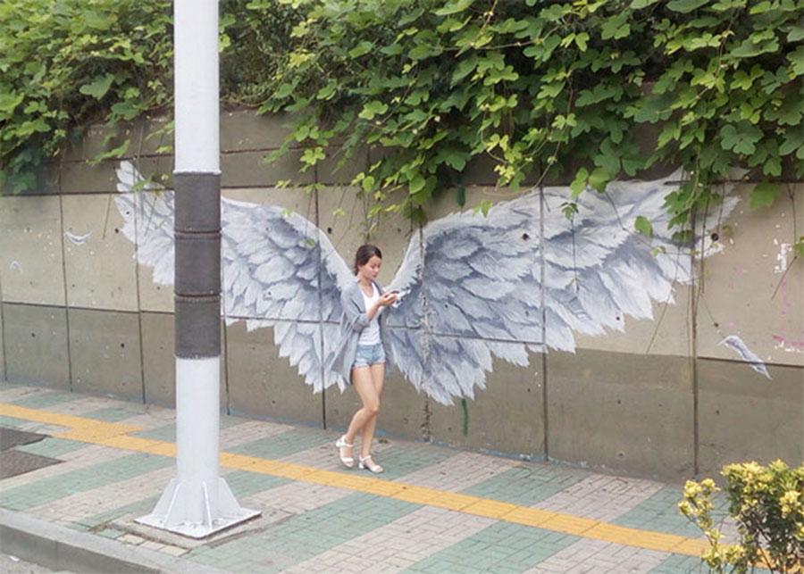 anjo no mural