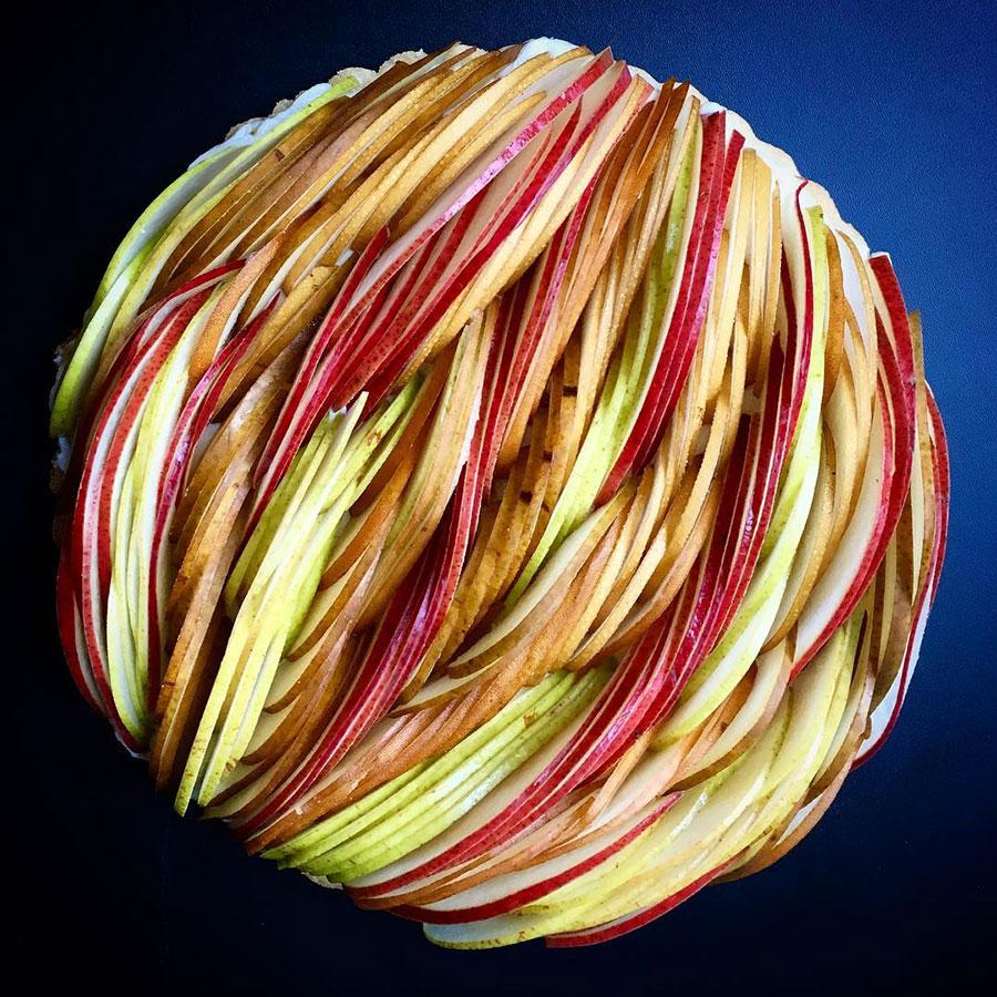 Tarte de maçã laminada