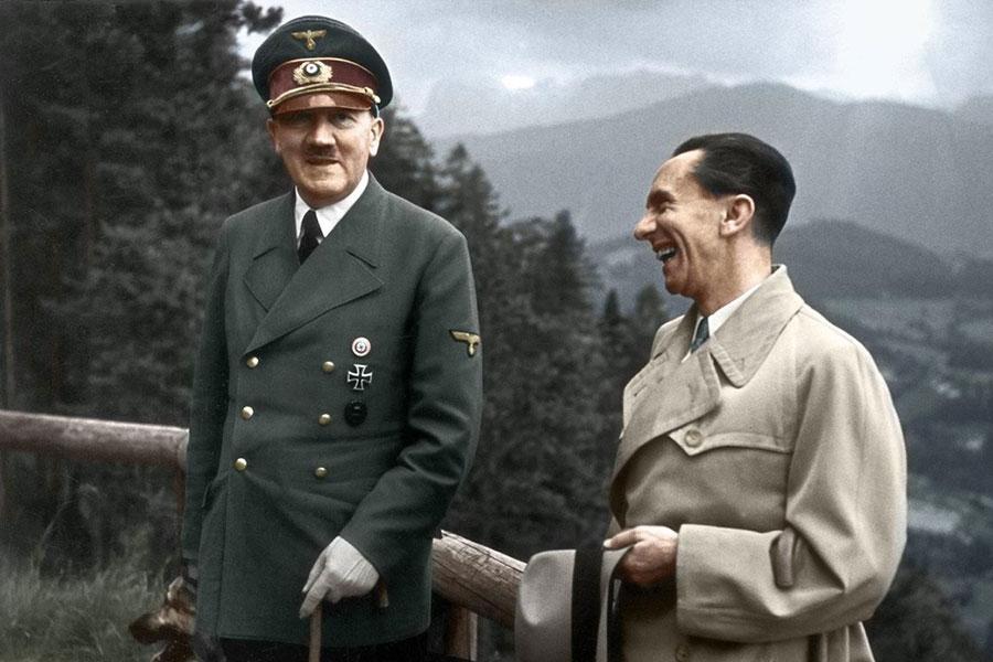 Adolf Hitler e Paul Joseph Goebbels