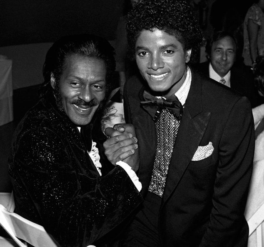Chuck Berry and Michael Jackson, 1979