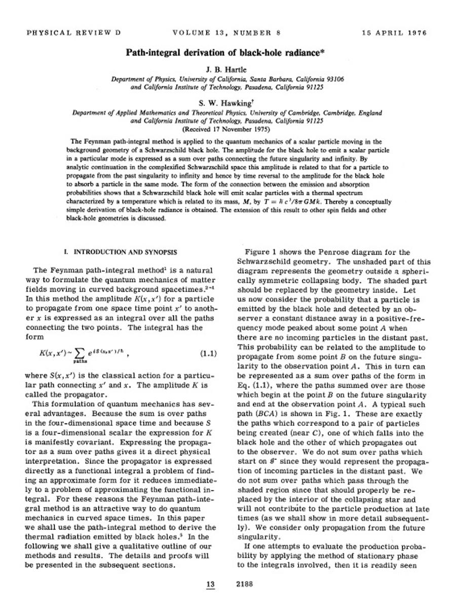 Path-integral derivation of black-hole radiance
