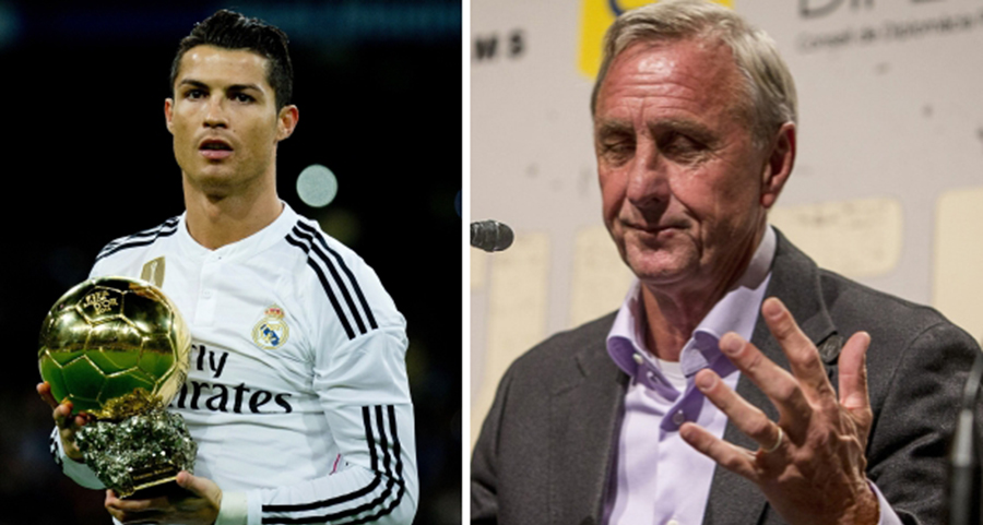 Johan Cruyff e Cristiano Ronaldo
