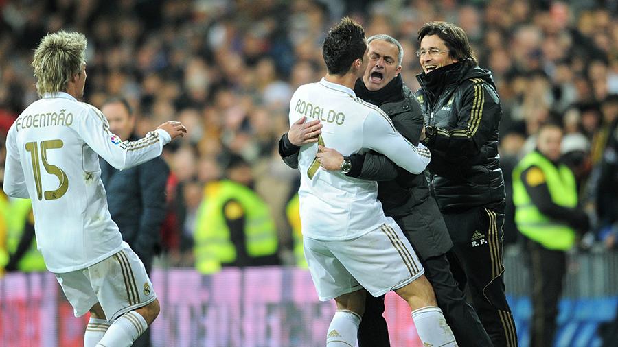 José Mourinho e Cristiano Ronaldo