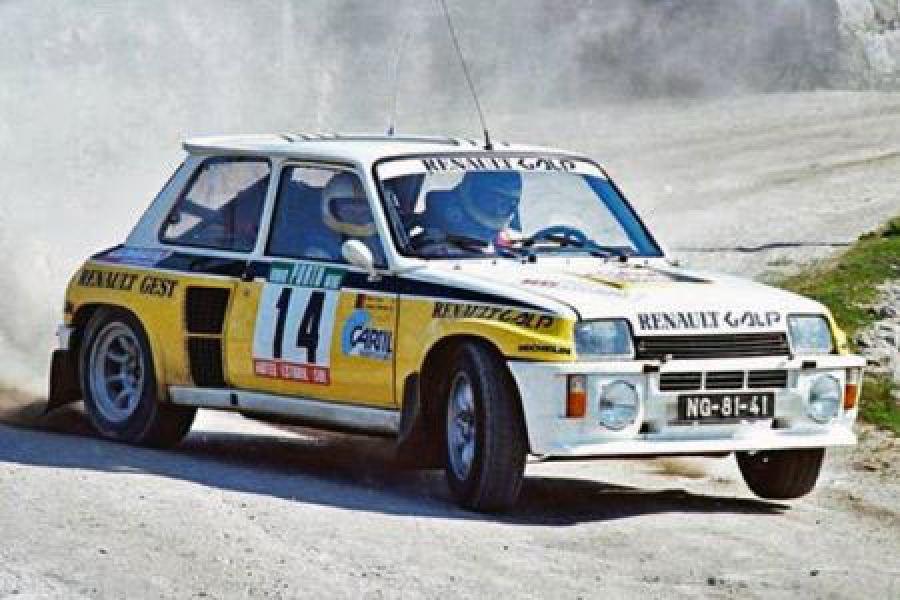 Vencedor Rali 1986 - Joaquim Moutinho a conduzir um Renault 5 Turbo