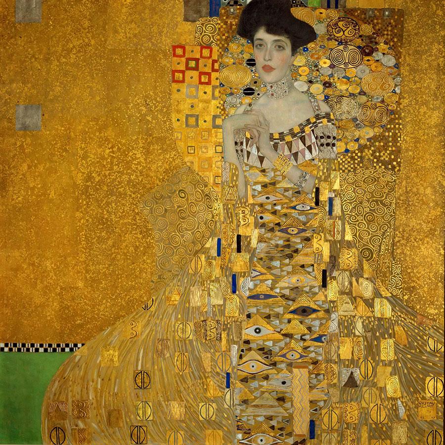 Retrato de Adele Bloch-Bauer I - Gustav Klimt (1907)