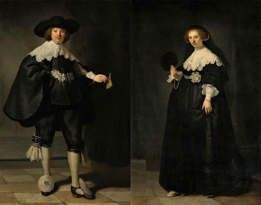 Retratos de Maerten Soolmans e Oopjen Coppit - Rembrant (1634)