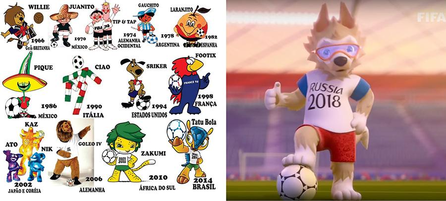 Mascotes Mundial de Futebol